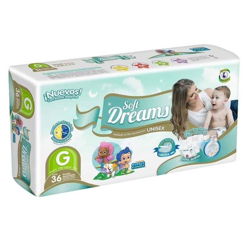 PAÑAL GRANDE SOFT DREAMS PAQ 36 PZ
